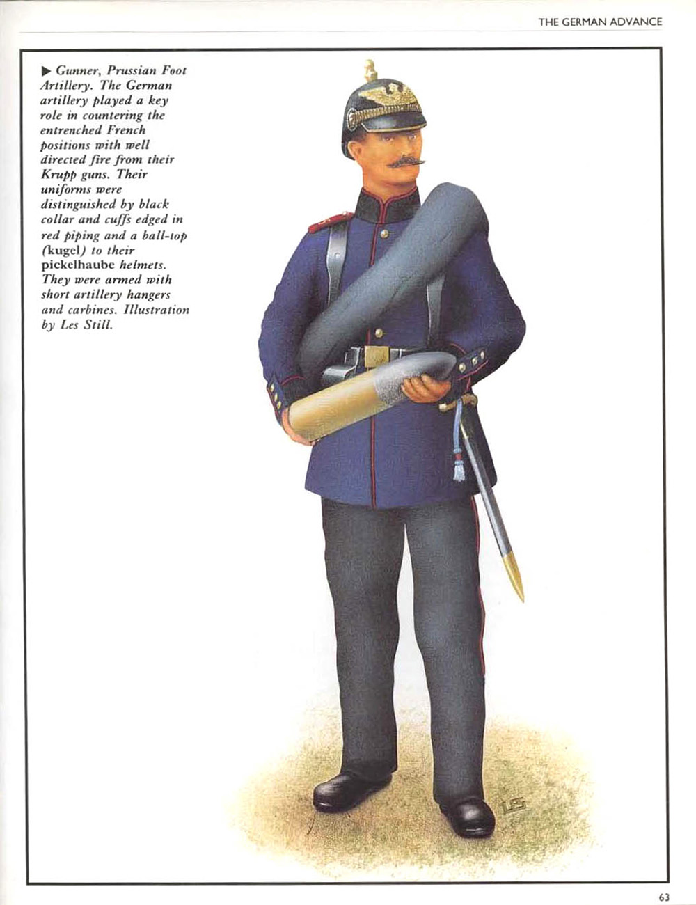 Gunner, Prussian Foot Artillery  Osprey Campaign #021 - Gravelotte-St Privat 1870 by Les Still