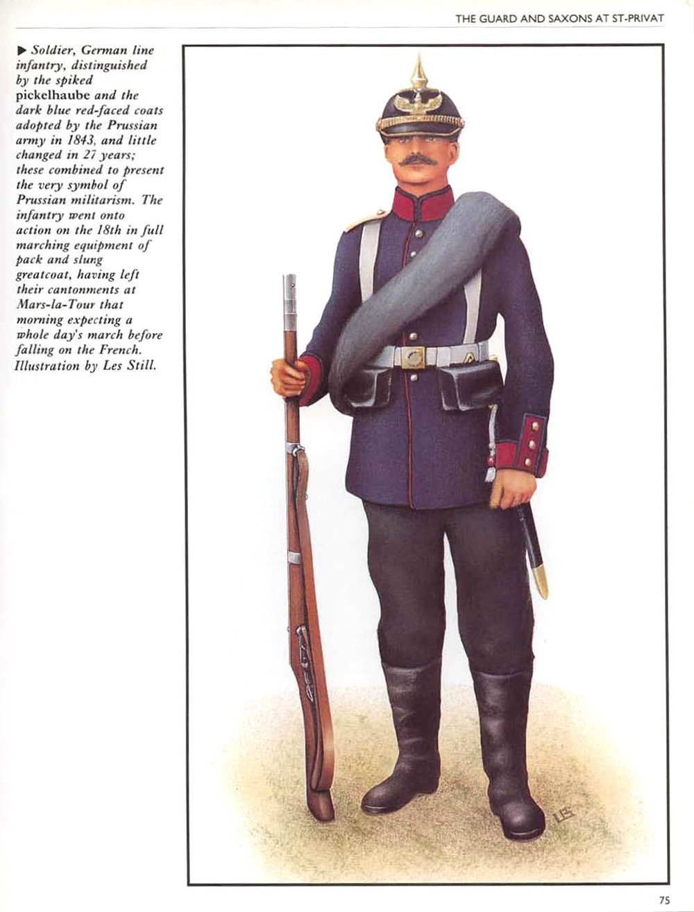 Soldier, Prussian Line Infantry,  Osprey Campaign #021 - Gravelotte-St Privat 1870 by Les Still