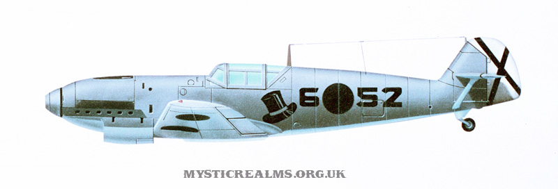 Messerschmitt Bf109; an airbrush illustration by Les Still