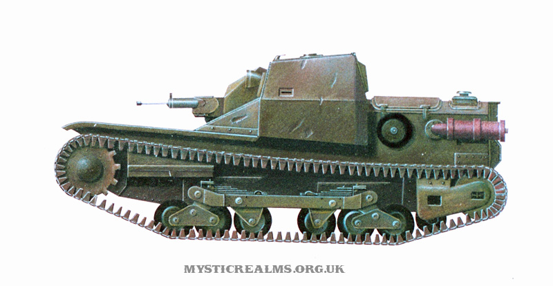 Carro Veloce CV 33 Tankette / L3/33; airbrush illustration by Les Still