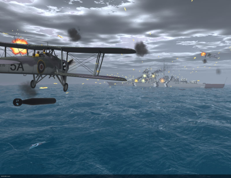 Fairey Swordfish - Sink the Bismarck; digital Illustration ? Les Still