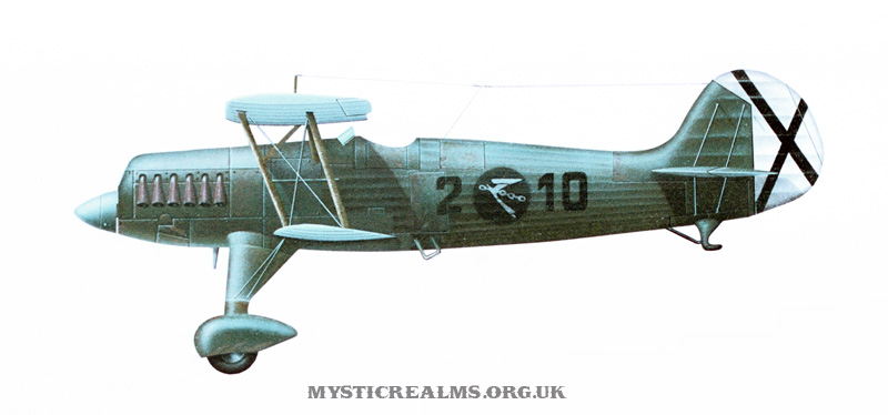 Heinkel He 51; an airbrush illustration by Les Still