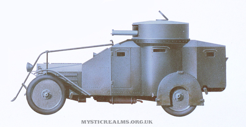 Lancia 1ZM Armoured Car an airbrush illustration by Les Still