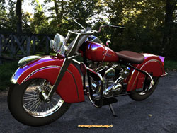 Indian Chief 1946; digital image by Les Still